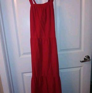 New Women's Size XS Sexy Red Flowy Dress
